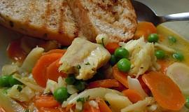 Pochoutka z rybího file a zeleniny