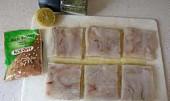 Smažené rybí filé se špenátem a bramborami