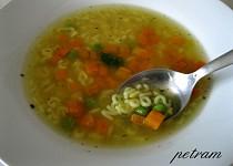 Zeleninový vývar s nudlemi nebo písmenky