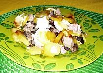 Brambory zapékané s houbami