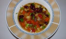 Jarní fazolačka s mrkví a jinou zeleninou