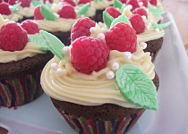 Kakaovo-malinove cupcakes