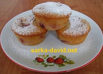 Kefírové jahodové muffiny