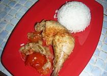 Kuracie stehná so zeleninou a šampiňónmi