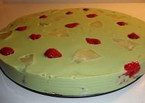 Matcha nepečený dort