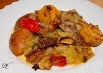 Špízový pekáč s brambory