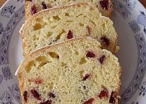 Citrónový chlebíček s brusinkami