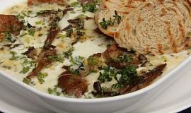 Hlíva zapečená s mozzarellou a gorgonzolou