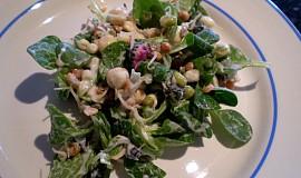 Jarní salát s polníčkem a sedmikráskou - vegan