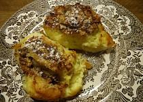 Žemlovka  z toustového chleba s hruškovými povidly