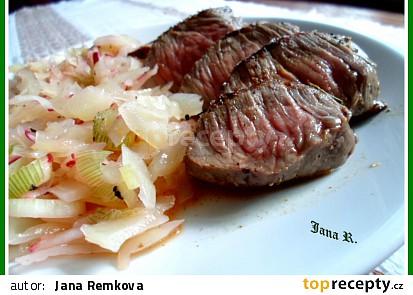 Rump steak v bylinkách
