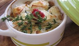 Smetanové zapékané mističky s kozím sýrem a tymiánem