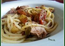 Špagety trošku nazeleno