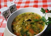 Zeleninová polévka s bylinkovou vaječnou jíškou