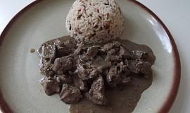 Játra na víně s rýží
