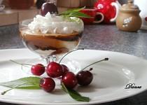 Lehký tvarohový pohár s kávovým želé