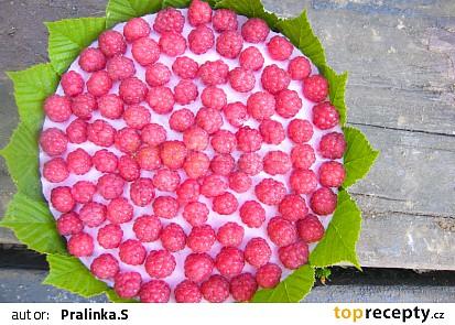 Malinový osvěžující dort