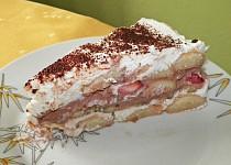 Nepečený tvarohovo-termixový dort s ovocem