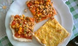 Pizza kari a zeleninová s tofu