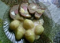 Plněná sekaná s hořčičným sosem