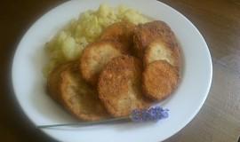 Smažený lilek s bylinkami a bramborem