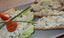 Zdravá  pórkovo-sýrová pomazánka