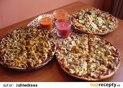 Domácí chutná pizza