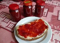 Jahodovo - rebarborový džem