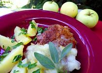 Krkovička s jablečnou omáčkou se šalvějí