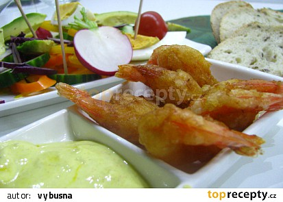 Party krevety v těstíčku