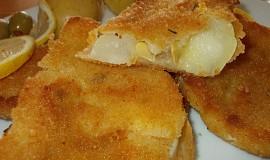 Patizon obalený v trojobalu se sýrem a jogurtem