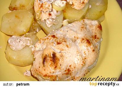 Pečené smetanové kuře s brambory (bez lepku, mléka a vajec)