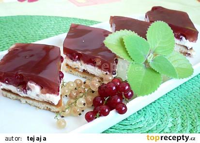 Tvarohovo-rybízový koláč