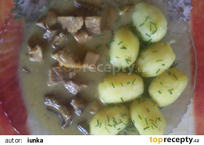 Vepřová plec na zavařených hříbkách