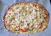 Zdravá květáková pizza bez mouky