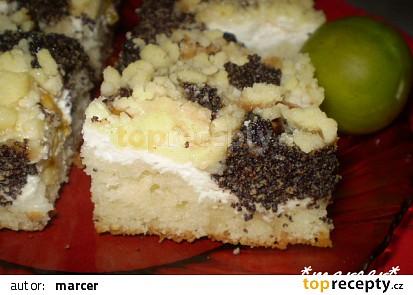 Blumový koláč s mákem a tvarohem