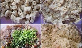Cibulovo-špekové,chlebové placičky