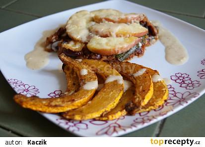 Cuketové steaky s nektarinkou a Hokkaido hranolky