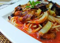 Italské špagety s baklažánem