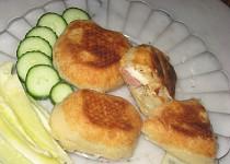 Listové taštičky se třemi druhy sýra