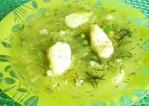 Polévka ze špagetové dýně s hráškem
