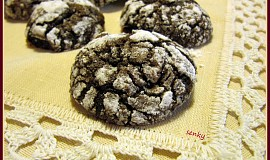 Rozpraskané čokoládové sušenky