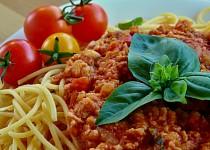 Sójové boloňské špagety