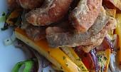 Sumčí hranolky s teplou zeleninou