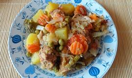 Zapečená zelenina s kuřecím masem
