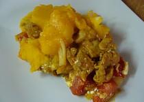 Zapečené kuřecí pod dýňovo-bramborovou kaší