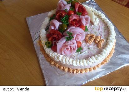 Aspikový dort z pařížského salátu