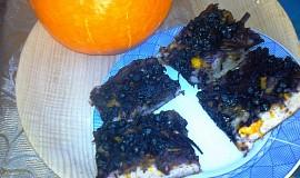 Dýňová bublanina s borůvkou a citrusovým přelivem
