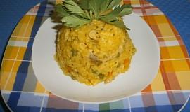 Dýňové rizoto s kuřecím masem