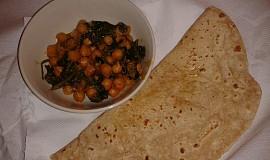 Indická kuchyně - Chole Palak (cizrna se špenátem) videorecept